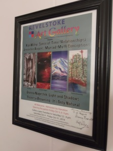 Official poster, signed by exhibitors.