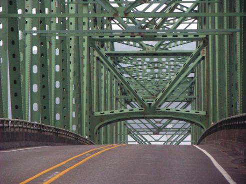 Astoria Bridge over the Columbia River - Oregon side.